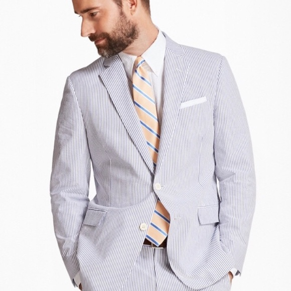 Brooks Brothers Suits Blazers Full Suit Seersucker Striped